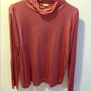 Sweaters - Pink silk turtle neck sweater